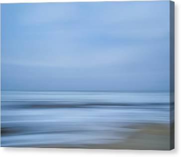 Blue Hour Beach Abstract Canvas Print
