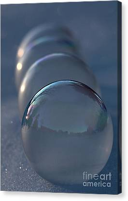 Blue Hour Frozen Bubbles Canvas Print