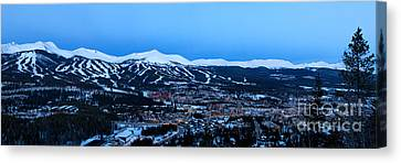 Blue Hour In Breckenridge Canvas Print