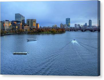 Charles River Canvas Print - Blue Hour On The Charles by Joann Vitali