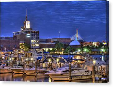 Blue Hour On The Charles River - Boston Canvas Print