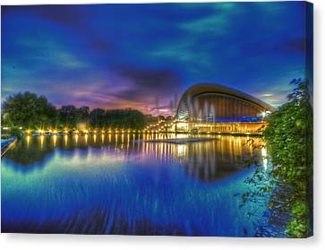 Blue Hour Reflections Canvas Print by Nathan Wright