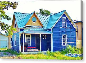 Blue House Canvas Print by Larry Campbell