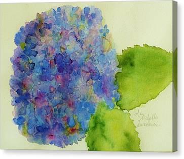 Blue Hydrangea Canvas Print by Ann Michelle Swadener