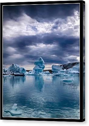 Blue Ice 2 Canvas Print