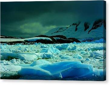 Canvas Print featuring the photograph Blue Ice Flow by Amanda Stadther