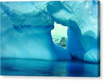 Blue Iceberg Antarctica Canvas Print
