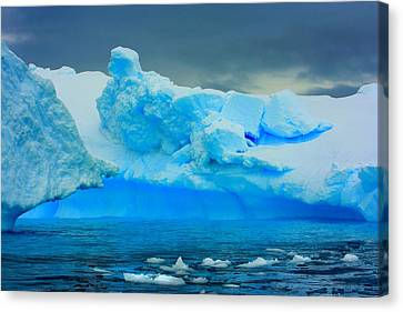 Canvas Print featuring the photograph Blue Icebergs by Amanda Stadther