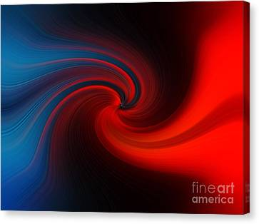 Blue Into Orange Canvas Print
