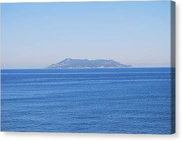 Canvas Print featuring the photograph Blue Ionian Sea by George Katechis