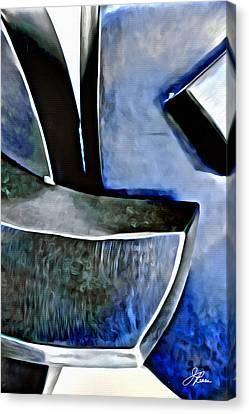 Blue Iron Canvas Print by Joan Reese