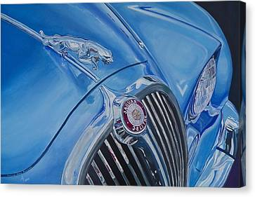 Vintage Blue Jag Canvas Print