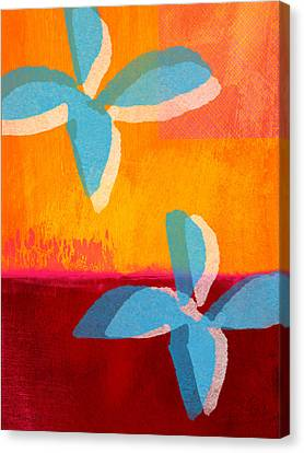 Blue Jasmine Canvas Print by Linda Woods