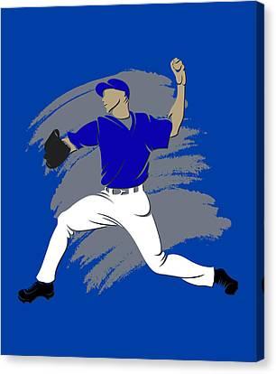 Blue Jays Shadow Player3 Canvas Print by Joe Hamilton