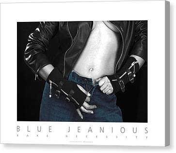 Blue Jeanious Bare Necessity Poster Canvas Print by David Davies