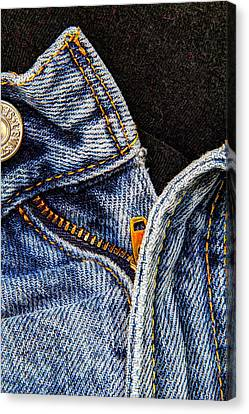 Blue Jeans Canvas Print by Wade Brooks