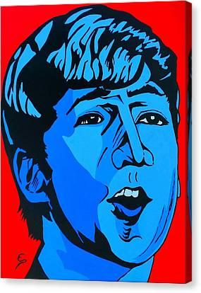 Blue  John Lennon Canvas Print