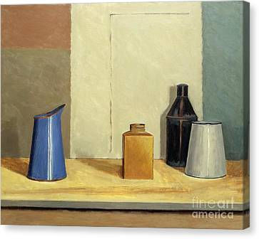 Cabin Wall Canvas Print - Blue Jug Alone by William Packer