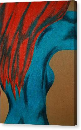 Blue Lady Canvas Print