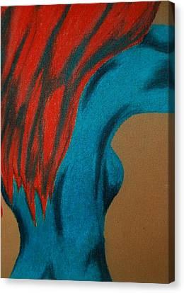Blue Lady Canvas Print by Angela Murray