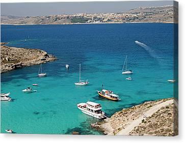 Blue Lagoon, Aerial View, Comino Canvas Print