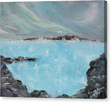 Blue Lagoon Iceland Canvas Print by Judith Rhue
