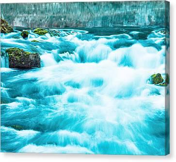 Canvas Print featuring the photograph Blue Lagoon by Steven Bateson