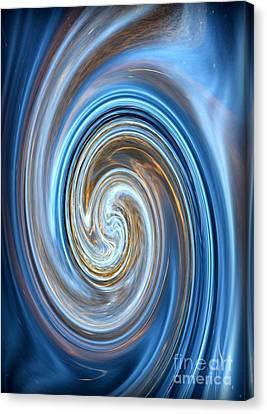 Blue Lagoon Swirls - Abstract Art Canvas Print by Carol Groenen
