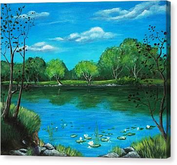 Blue Lake Canvas Print by Anastasiya Malakhova