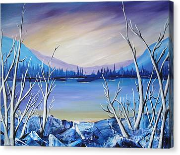 Blue Lake Canvas Print by Beverly Livingstone