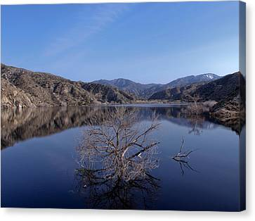 Canvas Print featuring the photograph Blue Lake by Ivete Basso Photography