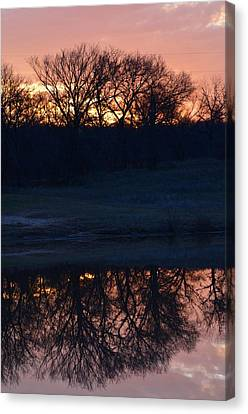 Blue Lake Sunset Xi Canvas Print
