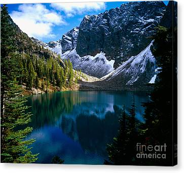 Blue Lake Canvas Print by Tracy Knauer