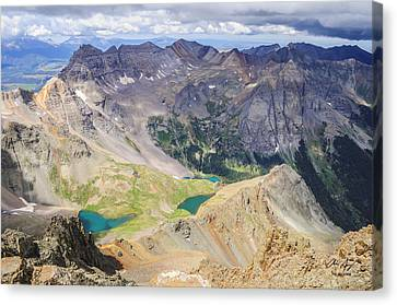 Blue Lakes Canvas Print by Aaron Spong