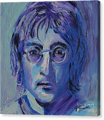 Canvas Print featuring the painting Blue Lennon by Jeanne Forsythe