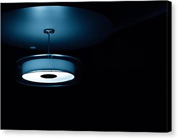 Canvas Print featuring the photograph Blue Light by Darryl Dalton