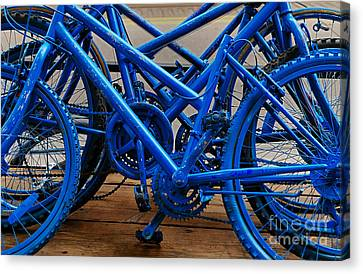 Blue Limousines Canvas Print