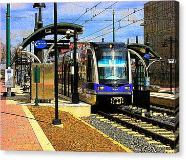 Canvas Print featuring the photograph Blue Line by Rodney Lee Williams