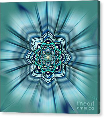 Blue Lotus Mandala Canvas Print