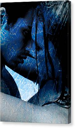 Blue Lovers Canvas Print by Teri Schuster