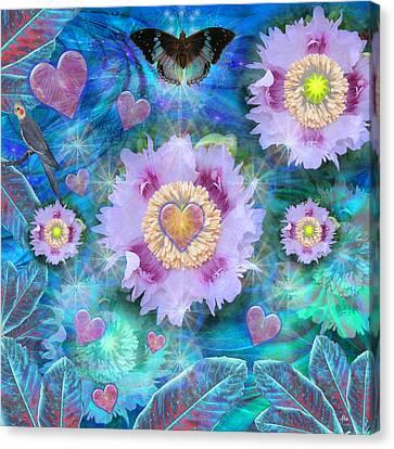 Blue Luminance Canvas Print by Alixandra Mullins