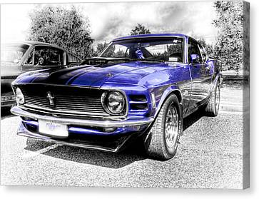 Blue Mach 1 Canvas Print by motography aka Phil Clark