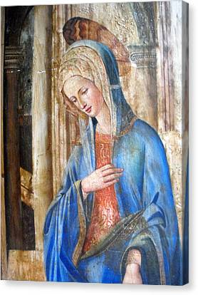 Blue Madonna Canvas Print by Anonymous