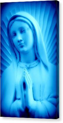 Canvas Print featuring the photograph Blue Madonna by Aurelio Zucco