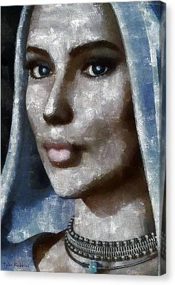 Blue Madonna Canvas Print by Tyler Robbins