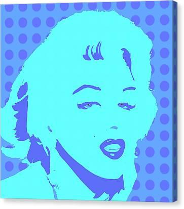 Blue Marilyn  Canvas Print by Cindy Edwards