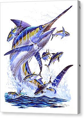 Blue Marlin Canvas Print by Carey Chen