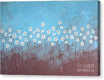 Blue Meadow Canvas Print by Home Art