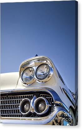 Blue- Metal And Speed Canvas Print by Holly Martin