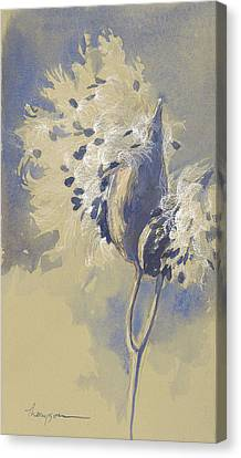 Blue Milkweed Canvas Print by Tracie Thompson